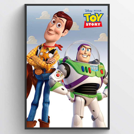 Toy Story Woody & Buzz Poster wallsticker