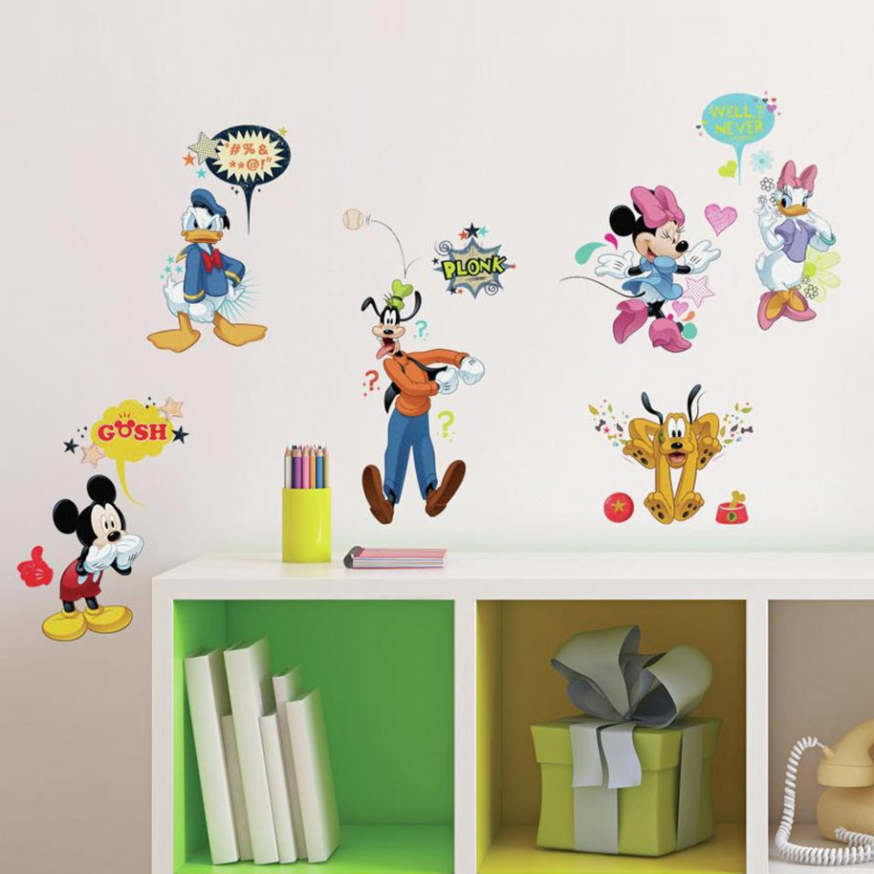 Mickey Mouse Muursticker.Mickey Mouse Vrienden Set Muursticker Alleen Van 20