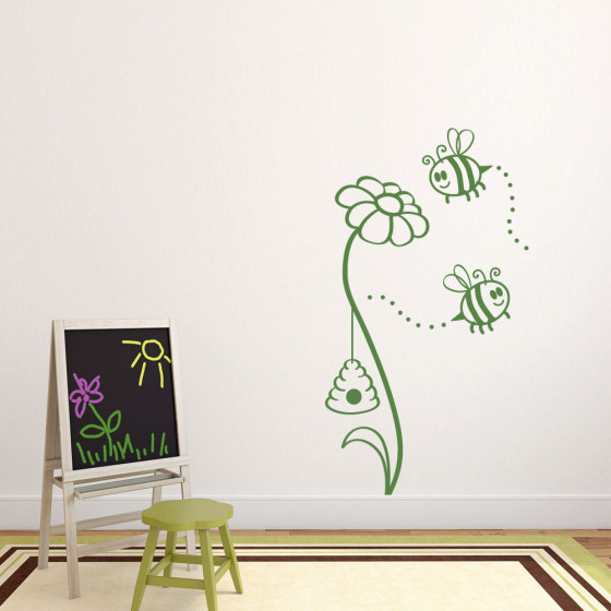 bier og blomst wallsticker wallsticker