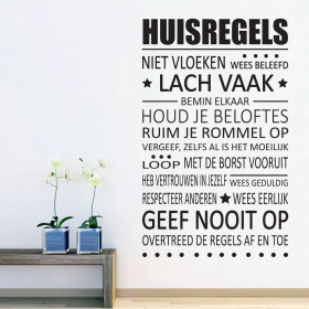 Huisregels wallsticker