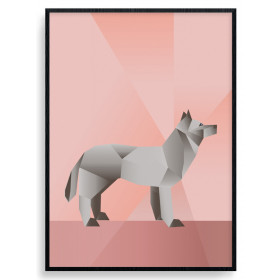 Polygon Wolf Poster wallsticker