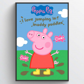 Peppa Pig Muddy Puddles Poster wallsticker
