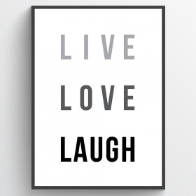Live love laugh - poster wallsticker