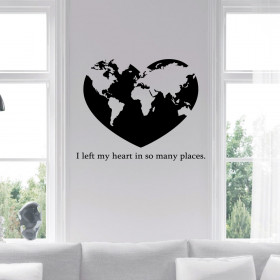 I left my heart in so many places wallsticker