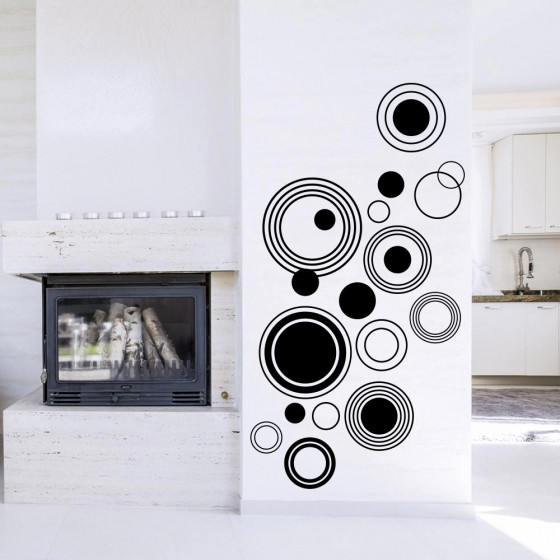 Abstracte cirkels wallsticker