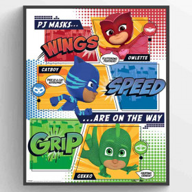 PJ Masks (On the Way) Poster wallsticker