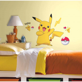 Pokemon Pikachu - Groot wallsticker