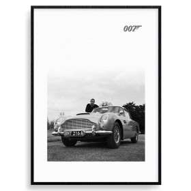 James Bond (Connery B+W) Poster wallsticker