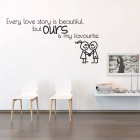 Our love story wallsticker