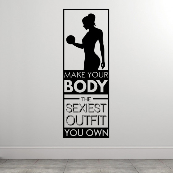 The Sexiest Outfit wallsticker