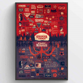 Stranger Things (The Upside Down) Poster wallsticker