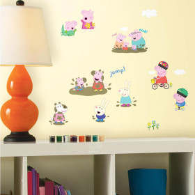Peppa Pig - set wallsticker