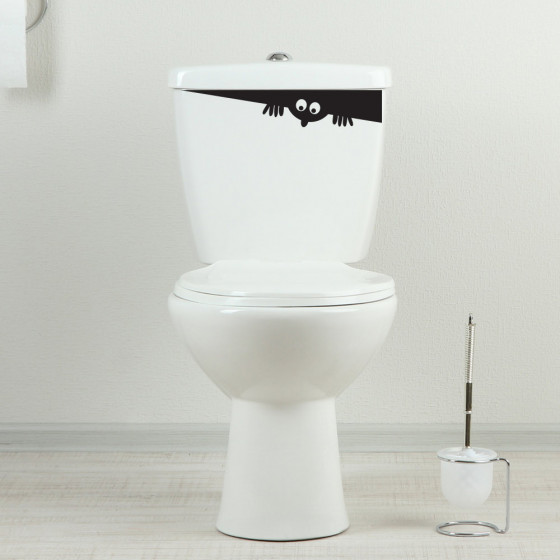 Toiletvoyeur wallsticker