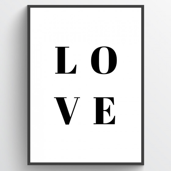 Love poster wallsticker