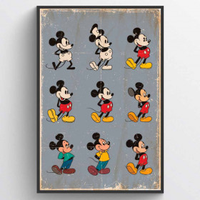 Mickey Mouse Evolution Poster wallsticker