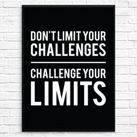 Challenge your limits Poster wallsticker