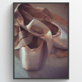 Ballerina shoes - poster wallsticker