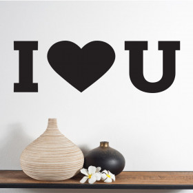 I love you wallsticker