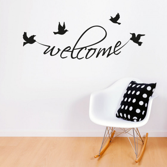 Welcome birds wallsticker