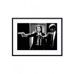 Pulp Fiction (B&W Guns) Poster wallsticker