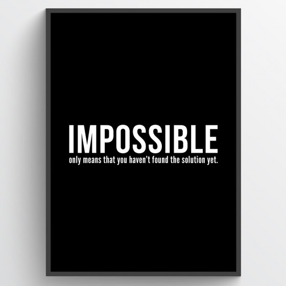 Impossible poster wallsticker