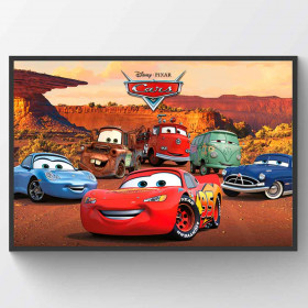 Cars Character Poster wallsticker