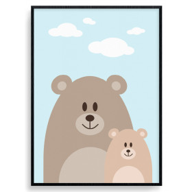 Bear Mom Poster wallsticker