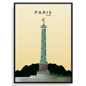 Paris Bastille Poster wallsticker