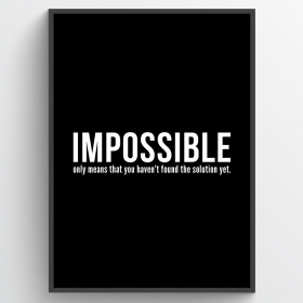 Impossible - poster wallsticker