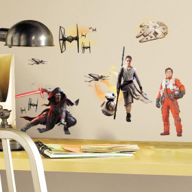 Star Wars - the force awakens - set wallsticker