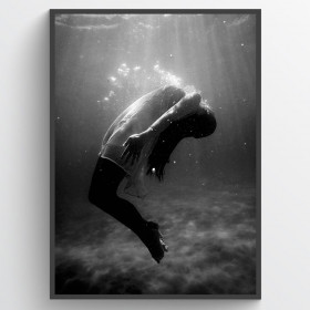 Water pose - poster wallsticker