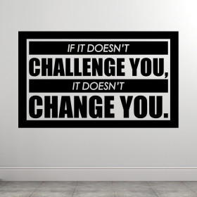 No Challenge No Change wallsticker