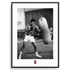 Muhammad Ali (Punch Bag) Poster wallsticker
