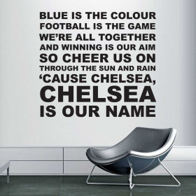 Blue is the colour - Chelsea wallsticker