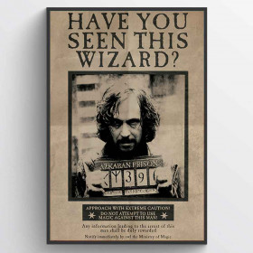 Harry Potter (Wanted Sirius Black) Poster wallsticker