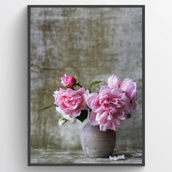 Bloemenvaas poster wallsticker