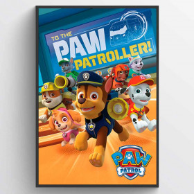 Paw Patrol To The Paw Patroller Poster wallsticker