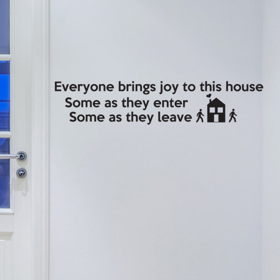 Everyone brings joy to this house wallsticker