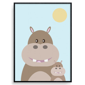 Hippo Mom Poster wallsticker