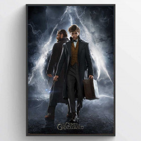 Fantastic Beasts The Crimes Of Grindelwald (Newt & Dumbledore) Poster wallsticker