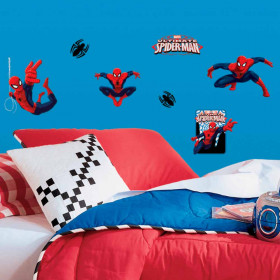 Spiderman set wallsticker