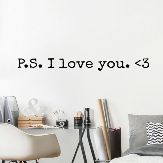 P.S. I love you wallsticker