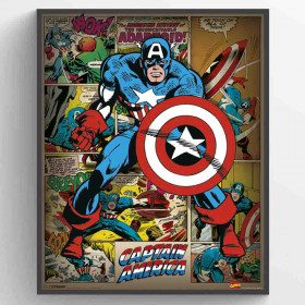 Marvel Comics (Captain America Retro) Poster wallsticker