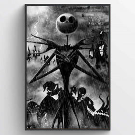 Nightmare Before Christmas (Storm) Poster wallsticker