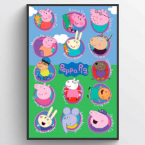 Peppa Pig Multi Characters Poster