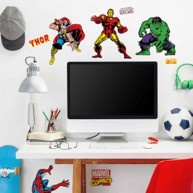 Marvel classic - set wallsticker