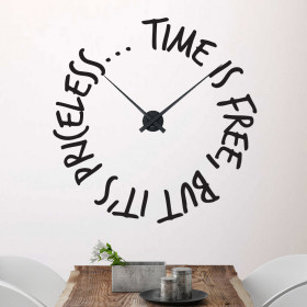 Time is free klok wallsticker