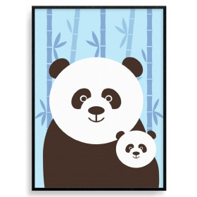 Panda Mom Poster wallsticker