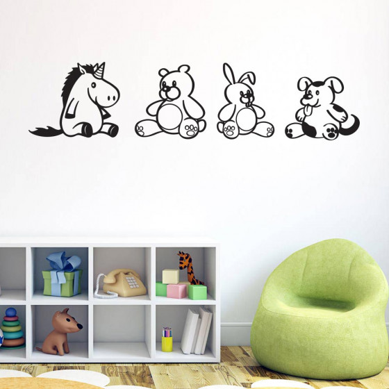 Teddybeer team wallsticker