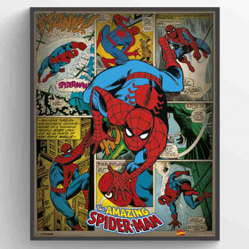 Marvel Comics (Spider-Man Retro) Poster wallsticker
